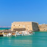 Visit the venetian fortress in the harbour of Heraklion on Crete island